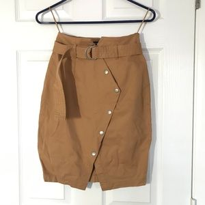 The Fifth Label tan belted skirt snap up -XS (0)